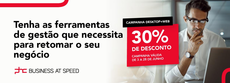 Campanha Desktop + WEB 30% de Desconto