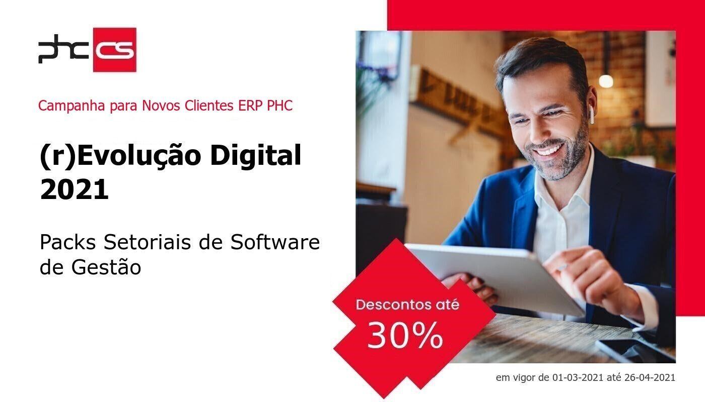 Campanha 30% de Desconto           (r)Evolução Digital 2021, Packs Digitais Setoriais